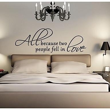 Cuvinte & Citate Abstract Perete Postituri Autocolante perete plane Autocolante de Perete Decorative Material Lavabil DetașabilPagina de