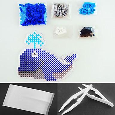 Wal Brunnen 5mm perler Perlen Kit Sicherung Hama Perlen (geeignet Farbe Perlen gesetzt + 1 + 1 pegboard Bügelpapier + 1 Pinzette)
