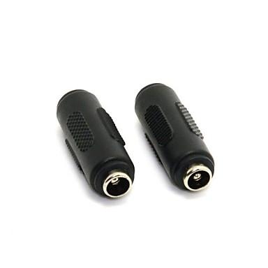 10pcs DC 5.5 2.1mm dişi 5.5 2.1mm dişi AC DC güç fiş uzatma konnektörü adaptörü