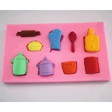 mănuși oală instrumente de decorare tort lingura de fondant de ciocolată silicon mucegai tort, l6.9cm * w6.9cm * h1cm