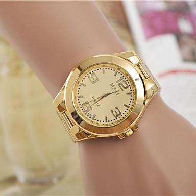 Damen Armbanduhr Quartz Armbanduhren für den Alltag Cool Legierung Band Analog Modisch Elegant Silber / Gold - Silber Golden Ein Jahr Batterielebensdauer / SSUO LR626