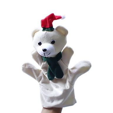 Αρκούδα Μαριονέτες δακτύλου Πρωτότυπες Κινούμενα σχέδια Υφασμα Χνουδωτό Κοριτσίστικα Δώρο