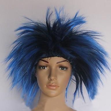 blau und schwarz Igel Haarperücke Halloween-Maskerade