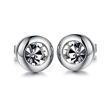 Dames Oorknopjes Zirkonia Titanium Staal Sieraden Bruiloft Feest Dagelijks Causaal Kostuum juwelen
