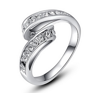 Anéis Pesta / Diário / Casual Jóias Liga / Zircão Feminino Anéis Statement6 / 7 / 8 Transparente / Prateado