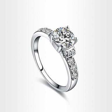 Kadın's Bildiri Yüzüğü - Kristal, Altın Kaplama Moda 6 / 7 / 8 Uyumluluk Düğün / Parti / Nişan