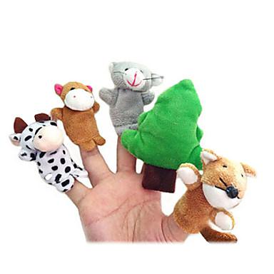 Fantoches de dedo Fantoches Fofinho Adorável Novidades Desenho Têxtil Felpudo Para Meninas Para Meninos Dom 10pcs