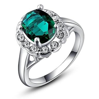 Anéis Casamento / Pesta / Diário / Casual Jóias Cristal / Chapeado Dourado Feminino Anéis Statement6 / 7 / 8 Prateado
