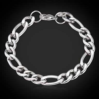 u7® титана стали коренастый Фигаро цепочка браслет для мужчин никогда не увядает 9мм 20см