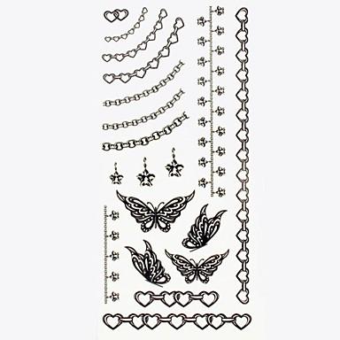 #(1) Dövme Etiketleri geçici Dövme Mücevher Serileri Su Geçirmez body Art / Temalı / Waterproof