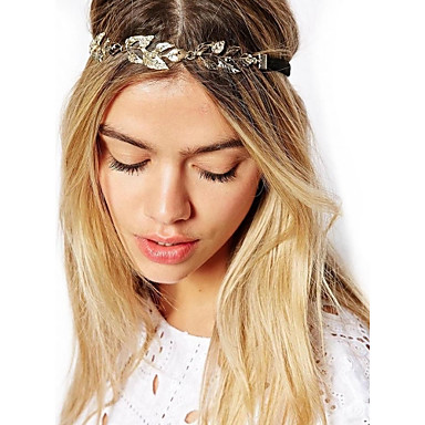 Women's Vintage Elegant Gold Plated Alloy Headband