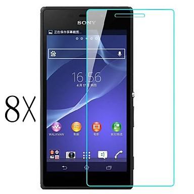 [8-pack] protetor de tela clara profissional lcd cristal de alta transparência com pano de limpeza para o Sony Xperia z2 l50w