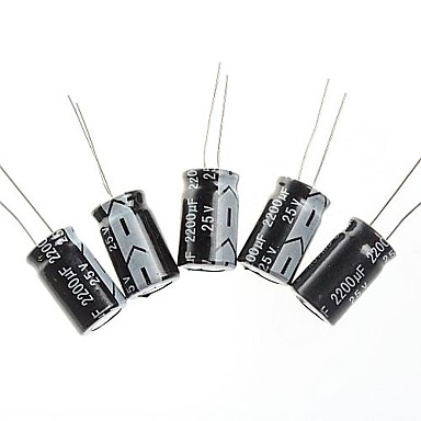 capacitor eletrolítico 2200uf / 25v projeto DIY (10pçs)