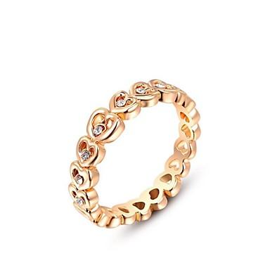 Ringen Bruiloft / Feest / Dagelijks / Causaal Sieraden Kristal / Verguld Dames Statementringen6 / 7 / 8 Gouden / Zilver
