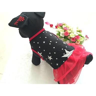 Câine Rochii Îmbrăcăminte Câini Stele Negru Rosu Bumbac Material amestecat Costume Pentru Primăvara & toamnă Vară Pentru femei Casul / Zilnic
