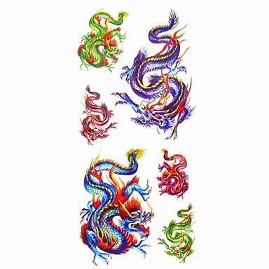 Serie de AnimaleAcțibilde de Tatuaj-Roșu-Model-#(18.5*8.5)-Dame / Girl / Adult / Adolescent-Hârtie-Dame / Girl / Adult / Adolescent-Model