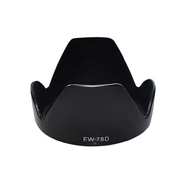 dengpin® ew-78d zonnekap voor canon 18-200 mm 28-200 mm 7d 6d 70d 60d 700d 650d 600d 18-200 mm lens