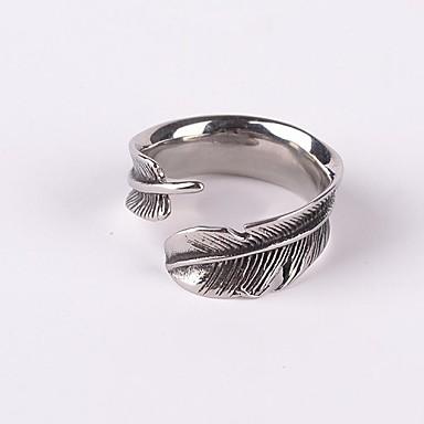 Erkek Bildiri Yüzüğü - Titanyum Çelik Vintage, Punk, Gotik 7 / 8 / 9 Uyumluluk Parti / Günlük