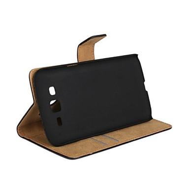 Pentru Samsung Galaxy Carcasă Titluar Card / Cu Stand / Întoarce Maska Corp Plin Maska Culoare solida PU piele Samsung Grand 2