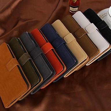 mode portemonnee stijl pu lederen full body case met card slot voor Samsung Galaxy i9600 s5