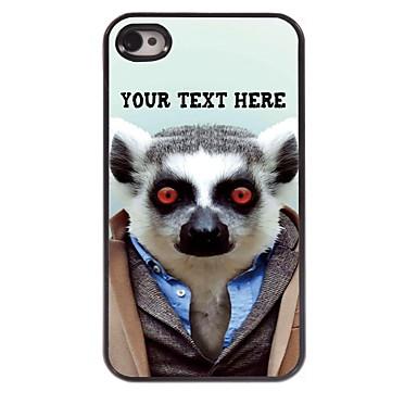 gepersonaliseerde telefoon case - luiaard ontwerp metalen behuizing voor de iPhone 4 / 4s