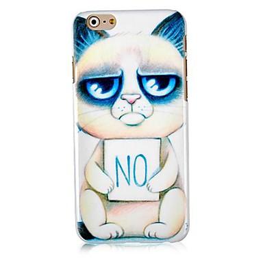 Cartoon Cat Pattern Hard Back Case for iPhone 6 Plus