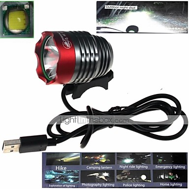 cheap Bike Lights-LED Bike Light Front Bike Light Headlight LED Cycling Waterproof Impact Resistant Multiple Modes Other 1000 lm USB Camping / Hiking / Caving Cycling / Bike Hunting / IPX-4