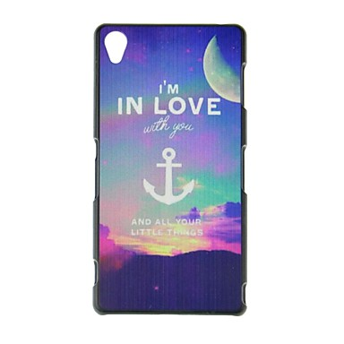fitin® eu estou no estilo de amor estojo rígido padrão de plástico para Sony Xperia z3