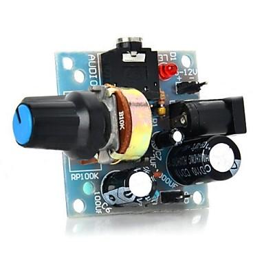 Arduino için 386 mini ses yükseltici modülü - açık mavi (5 ~ 12v)