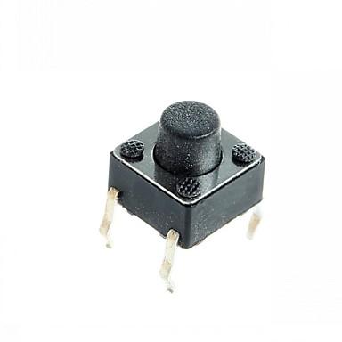 4-pinli inceliğini diy 6x6x5mm geçiş dokunsal basma düğmesi anahtarı (100 adet)