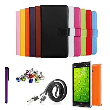 tok Για Nokia Nokia Lumia 930 Θήκη Nokia Θήκη καρτών Πορτοφόλι με βάση στήριξης Πλήρης Θήκη Συμπαγές Χρώμα Σκληρή PU δέρμα για