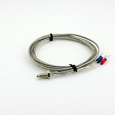 k-Sonde M6 x 5mm Temperatursensorkabel - Silber (2m)