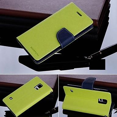 αρχική κορεατική goospery υδράργυρο pu δέρμα γεμάτο περίπτωση το σώμα για i9600 Galaxy S5