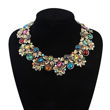 Γυναικεία Σχήμα Λουλουδάτο Κοσμήματα με στυλ Μοντέρνα Ευρωπαϊκό Κολιέ Δήλωση Κράμα Κολιέ Δήλωση Κοστούμια Κοσμήματα