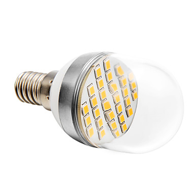 E14 Bulb LED Glob 30 led-uri SMD 2835 Alb Cald 280lm 2500-3500K AC 220-240V
