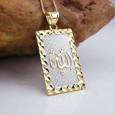 Jóias Colares com Pendentes Casamento / Pesta / Diário / Casual / Esportes Chapeado Dourado Feminino Dourado Presentes de casamento