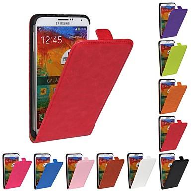 Voor Samsung Galaxy Note Flip hoesje Volledige behuizing hoesje Effen kleur PU-leer Samsung Note 3