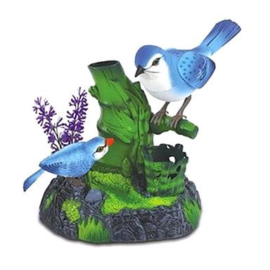 Sprachsteuerungs Gesang Mutter und Kind Elstern mit Stifthalter Baumast Spielzeug (blau)