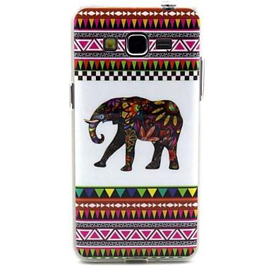 λευκό ελέφαντα γραμμές tribal σχέδιο μοτίβο ανθεκτικό υλικό TPU υπόθεση κάλυψη για Samsung Galaxy grand προνομιακή