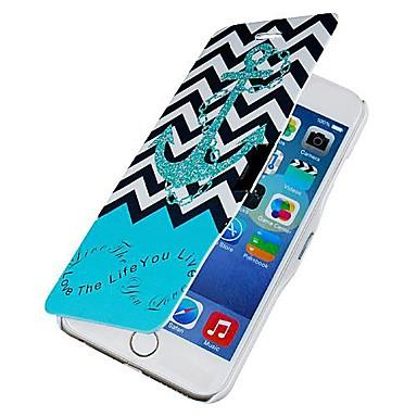 Pentru Carcasă iPhone 6 Carcasă iPhone 6 Plus Carcase Huse Întoarce Model Corp Plin Maska Ancoră Greu PU piele pentruiPhone 6s Plus