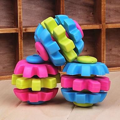 Drei-Farben-Ball Gummiformkauenspielwaren für Hunde (gelegentliche Farbe)
