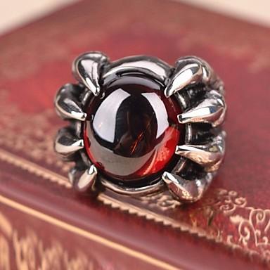 Bărbați Roșu-aprins / Sintetic Ruby Inel / Inel de declarație - Vintage / Casual / Pietrele Lunilor Inel Pentru