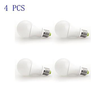 7W 450-500lm E26 / E27 LED Kugelbirnen A60(A19) 1 LED-Perlen COB Abblendbar Warmes Weiß 220-240V / 4 Stück / RoHs / ASTM