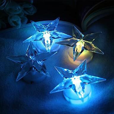 1pc LED-Nachtlicht Batterie Dekorativ
