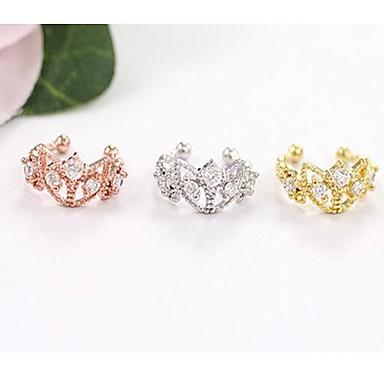 Crown Shape Ștras Cătușe pentru urechi - Argintiu Trandafiriu Auriu Crown Shape cercei Pentru Nuntă Petrecere Zilnic Casual