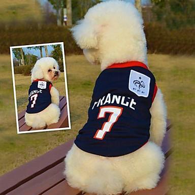 Katze / Hund T-shirt / Trikot Hundekleidung Blau Baumwolle Kostüm Für Haustiere Sommer Cosplay / Hochzeit
