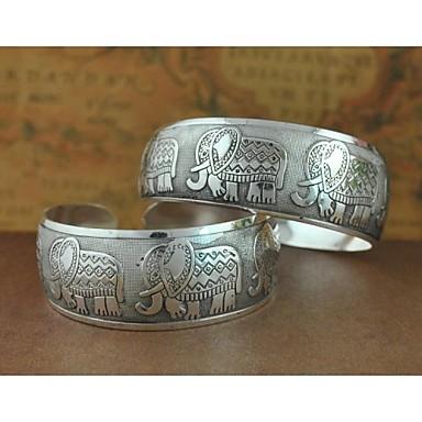 Dames Cuff armbanden Uniek ontwerp Modieus Legering Sieraden Zilver Sieraden Voor Bruiloft Feest Dagelijks Causaal Kerstcadeaus 1 stuks