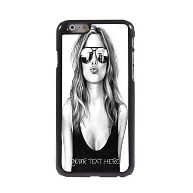 gepersonaliseerde telefoon geval - mooi meisje ontwerp metalen behuizing voor de iPhone 6 plus