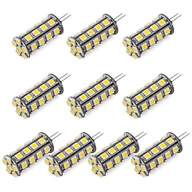 1 buc Becuri LED Bi-pin 352 lm G4 30 LED-uri de margele SMD 5050 Alb Cald Alb Rece 12 V / RoHs
