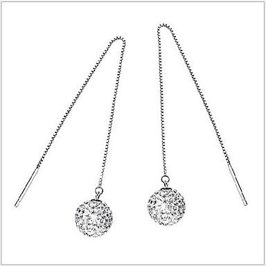 Dames Sterling zilver Strass Druppel oorbellen - Zilver oorbellen Voor Bruiloft Feest Dagelijks